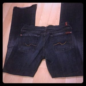 7 For All Mankind Black Bootcut Jeans size 28